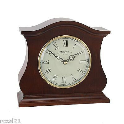 Large Quartz Broken Arch Wooden Mantel Clock W2509 by Wm Widdop - Louie's Gift Shop