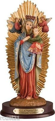 "Lady Of Perpetual Help 8"" Resin Statue"