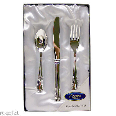 Christening Gift - Silver Plated Baby Cutlery - Louie's Gift Shop