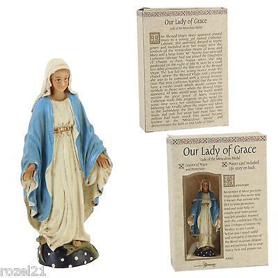 "Our Lady of Grace Statue - 3.5"" - Louie's Gift Shop"