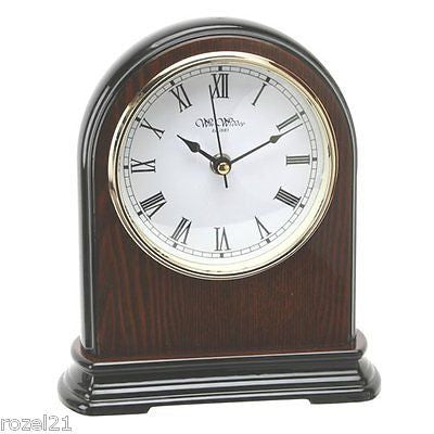 Wm.Widdop Napoleon Shaped Wooden Mantel Clock