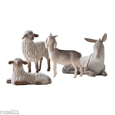 Willow Tree Sheltering Animals Figurine