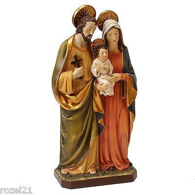 Juliana Figurine Joseph and Mary Holding Baby Jesus