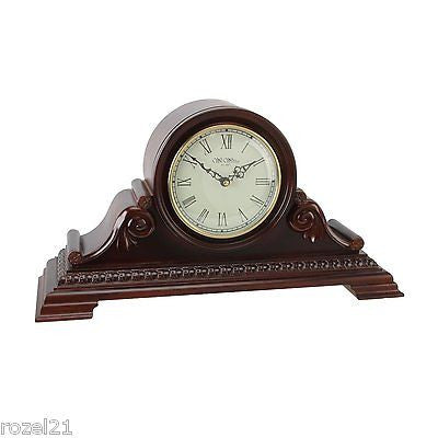 Very Large Quartz Napoleon Wooden Mantel Clock W2510 by Wm Widdop