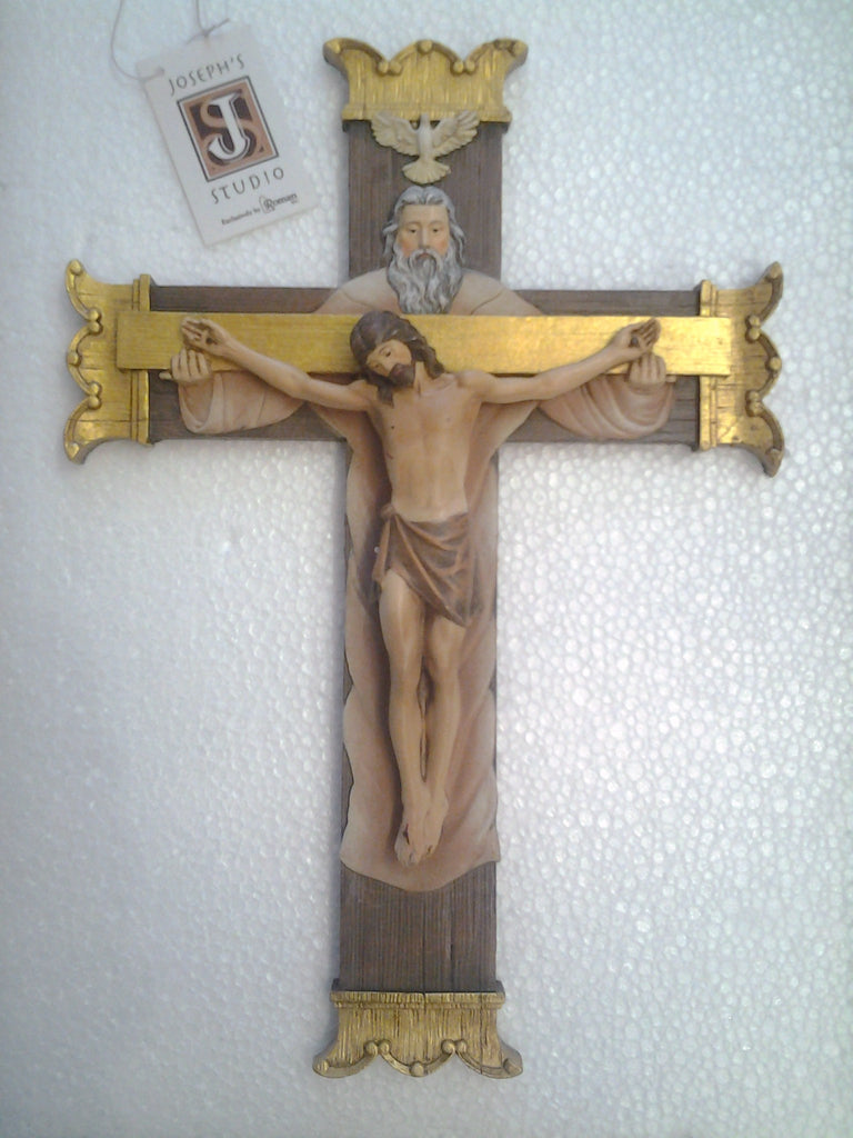 Holy Trinity Crucifix - by Joseph Studio's - Louie's Gift Shop