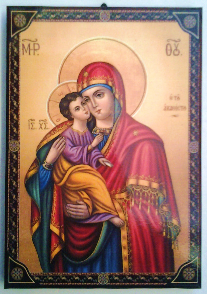 Mother and Child Greek -Byzantine Icon - Louie's Gift Shop