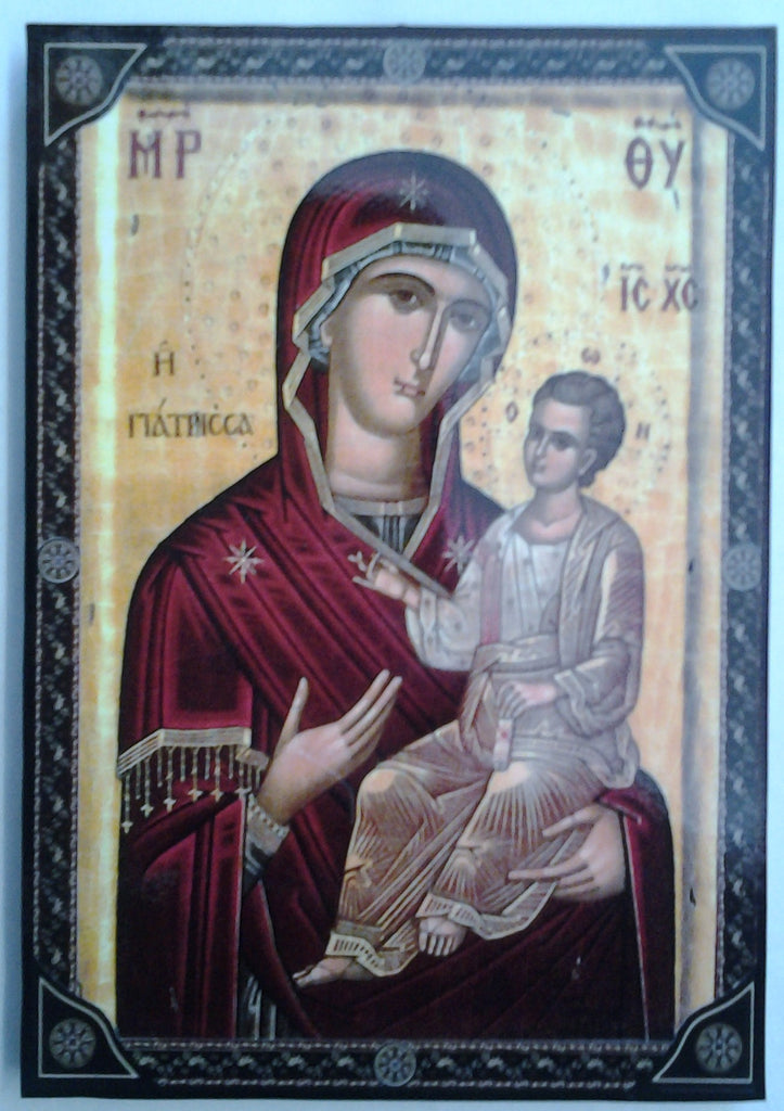 Virgin Mary and Child -Greek Byzantine icon - Louie's Gift Shop