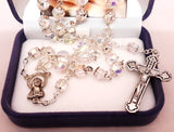 Glass AB Rosary - Crystal with caps -louies-gifts - Louie's Gift Shop