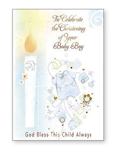 Card - To Celebrate Your Christening - Boy