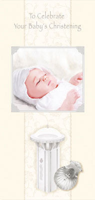 Hand Crafted Card/Baby Christening - boy/girl - Louie's Gift Shop