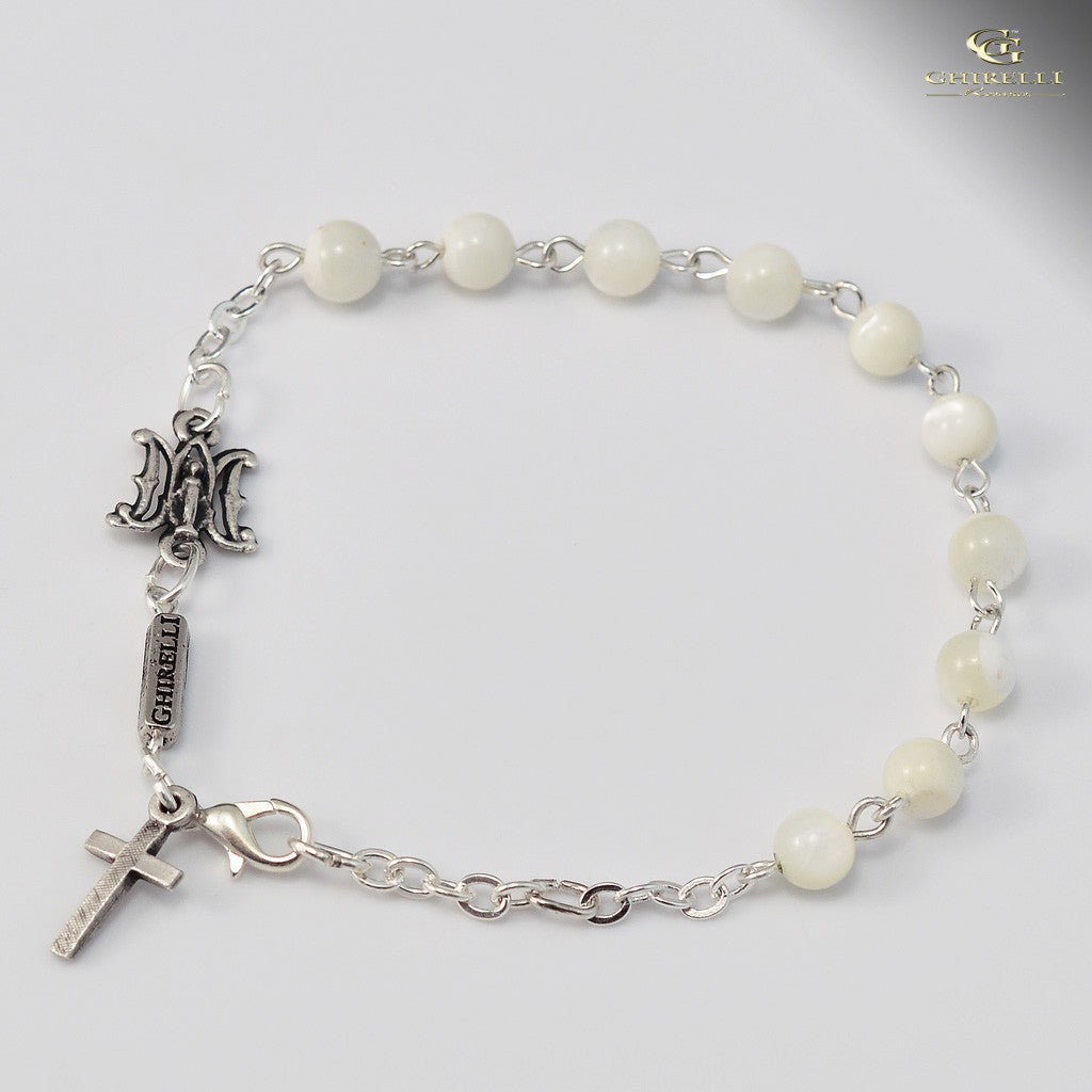 Miraculous Medal silver plated Ghirelli braclet m.o.p. -25004 - Louie's Gift Shop