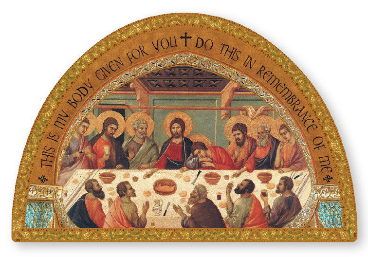 Last Supper icon/Plaque Gold foli highlights