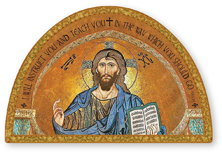 Christ the Teacher Icon/Plaque Gold Foil Highlights