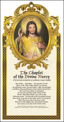 Divine Mercy Wooden Plaque