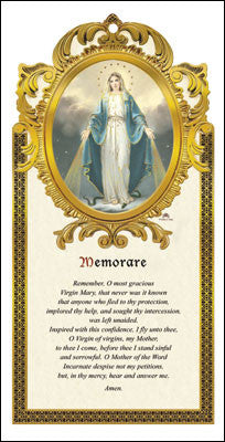 Memorare wooden plaque
