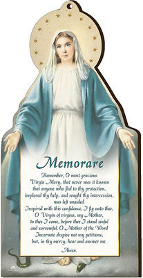 Memorare wooden plaque by cbc - Louie's Gift Shop