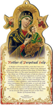 Mother of Perpetual Help wooden plaque by cbc - Louie's Gift Shop