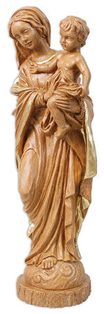 "Madonna & Child Statue 12"" Gold Highlights - Louie's Gift Shop"