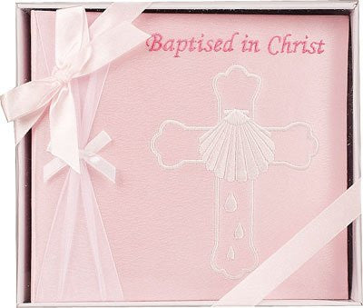 Embroidered photo album/Girl My Baptism - Louie's Gift Shop