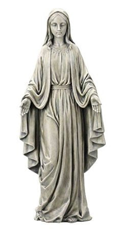 Statue Our Lady Miraculous Medal Garden Statue - Louie's Gift Shop