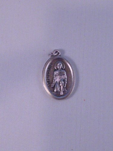 St Peregrine ~ Medal with relic - Louie's Gift Shop