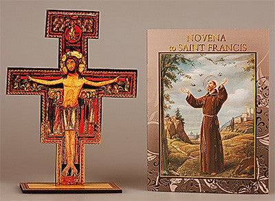 Novena Book and Cross St. Francis by CBC - Louie's Gift Shop