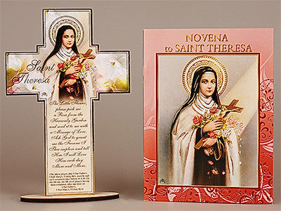 Novena Book and Cross  St.Theresa  - by cbc - Louie's Gift Shop