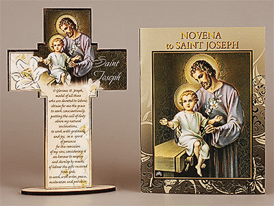 Novena Book and Cross St. Joseph  by CBC - Louie's Gift Shop