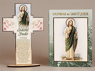 Novena Book and Cross -St.Jude -by cbc - Louie's Gift Shop