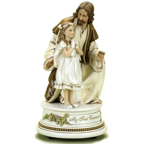 Musical Figure - Girl  Sacrament Catholic Communion Roman.Inc - Louie's Gift Shop