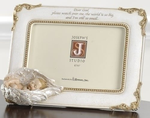 Photo Frame Baby In Angels Wings Joseph Studio 4x6 picture - Louie's Gift Shop