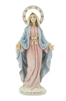 "Veronese Resin Statue 11 1/4"" Our Lady of Medjugorje - Louie's Gift Shop"
