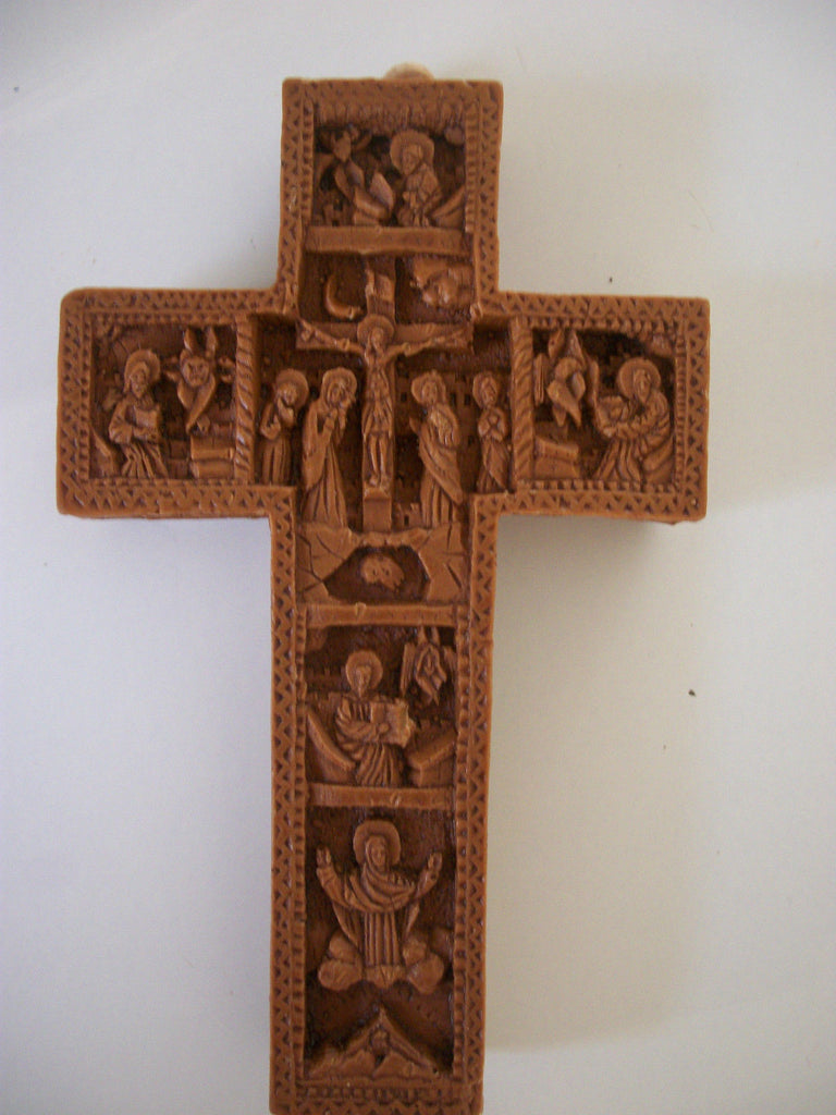Small Cross/Crucifix- Icon  Hand Carved - Louie's Gift Shop