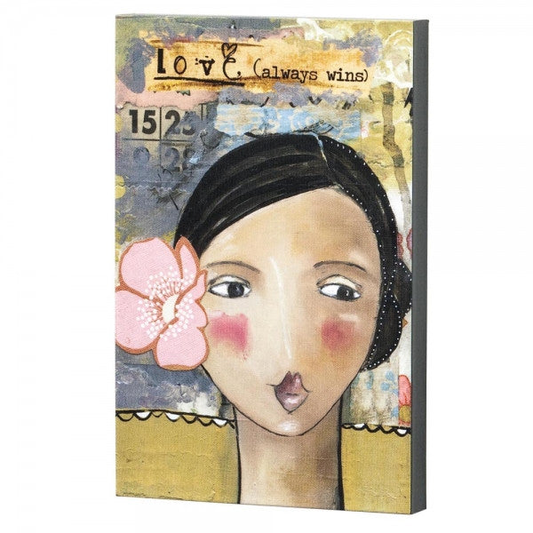 Kelly Rae Roberts Love Girl With Flower Wall Art - Louie's Gift Shop