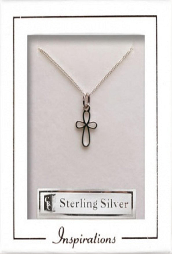 Cross Necklet Sterling Silver - Louie's Gift Shop