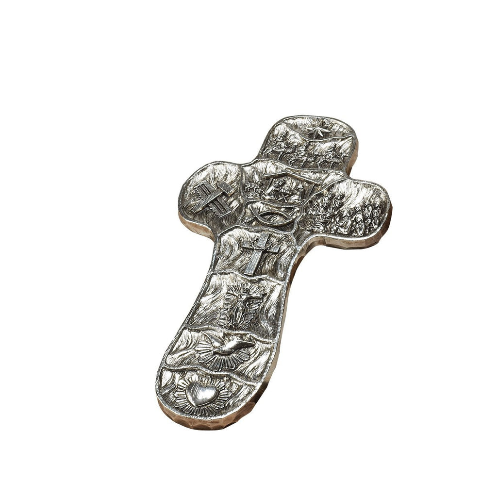 Roman Embossed Wall Cross with The Scenes from The Life Story of Christ - Louie's Gift Shop