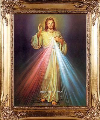 Gold Framed Picture/Divine Mercy - Louie's Gift Shop