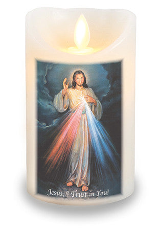 Led light Candle Divine Mercy