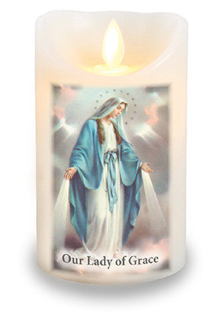 Led Light Candle Our Lady of the Miraculous