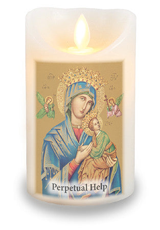 Led Light Candle Our Lady of Perpetual Help