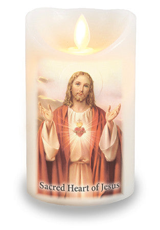 Led Light Candle Sacred Heart of Jesus