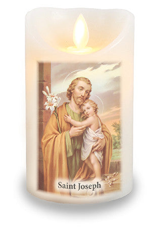 Led Light Candle  St. Joseph