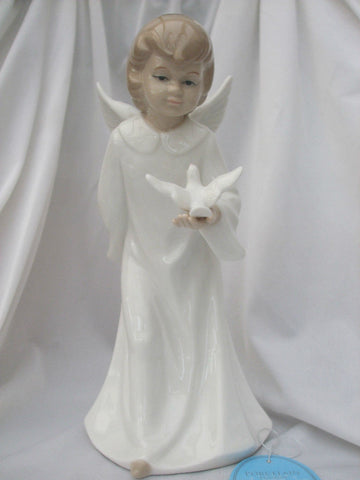 Leonardo Porcelain Figurine Peace Girl  with Dove