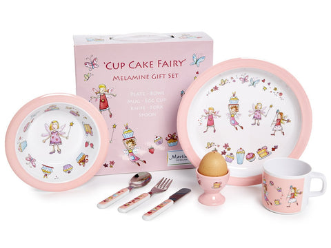 CHILDREN'S 7 PIECE MELAMINE SET - Cup Cake Fairy