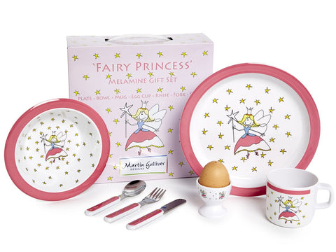 CHILDREN'S 7 PIECE MELAMINE SET - Fairy Princess
