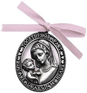 Crib Medal -Pink Ribbon / girl cbc - Louie's Gift Shop