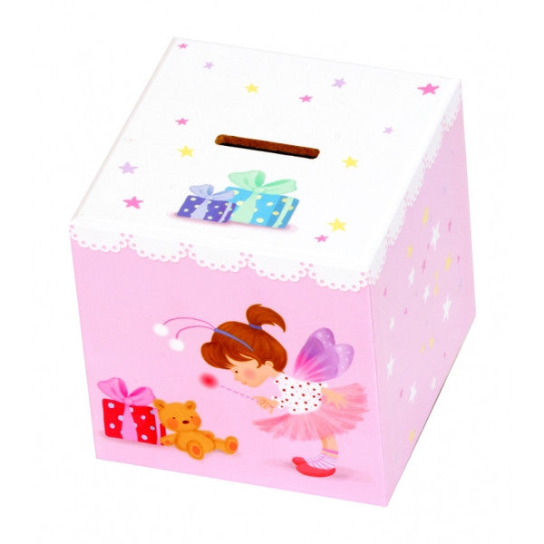 Pink Lace Fairy Money Box -Mele & Co -1355