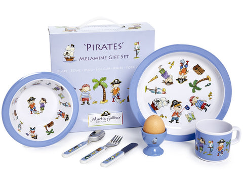 CHILDREN'S 7 PIECE MELAMINE SET - Pirates