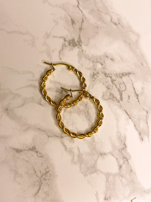 Orecchini Hoops Braids 22 mm
