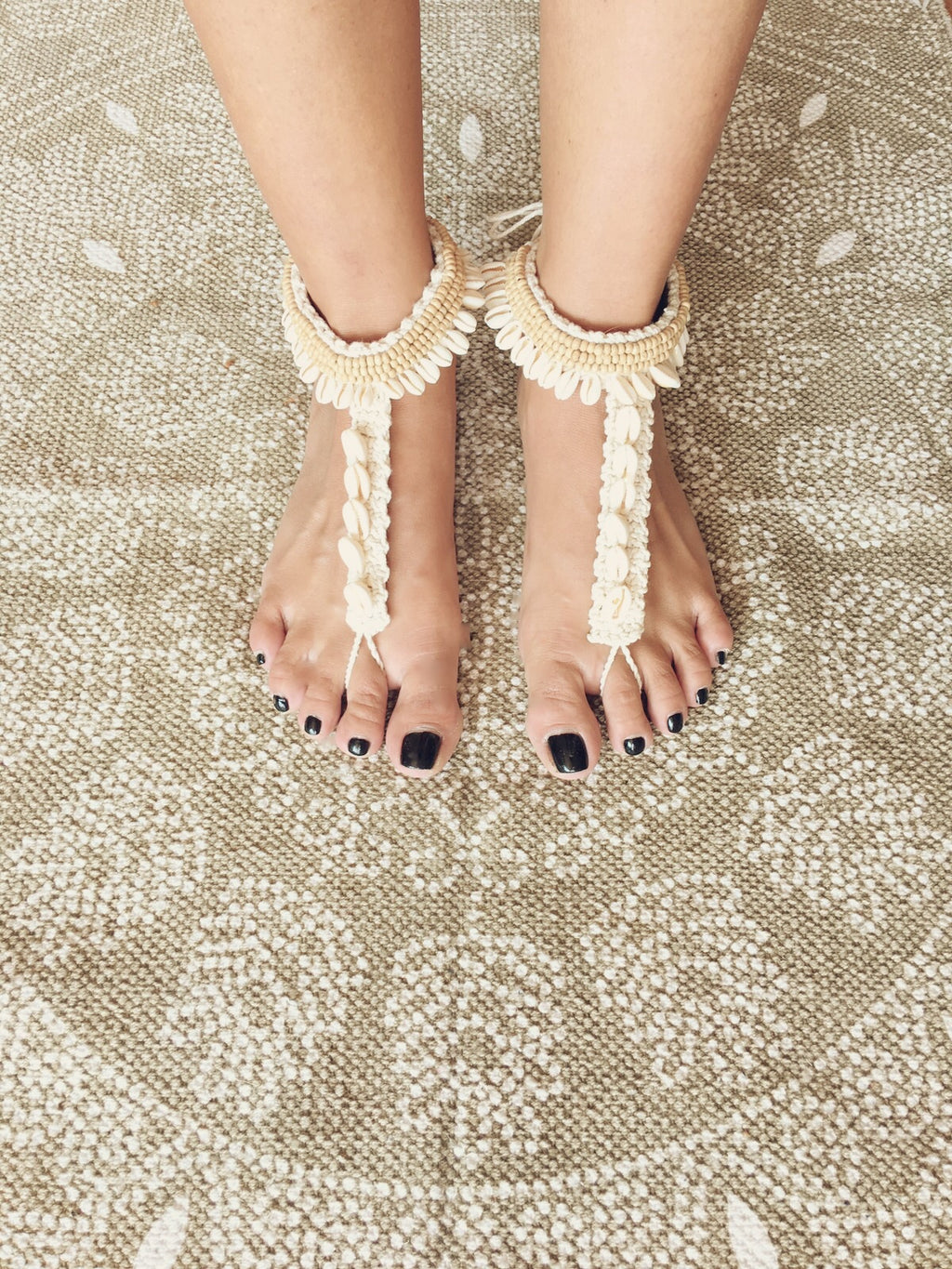 Seashells Barefoot Sandals - Wanderlust Factory ● Mobile Fashion Boutique